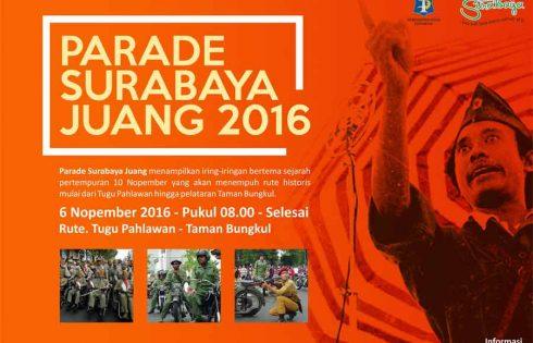 Semangat Menggelora dalam Parade Surabaya Juang 2016