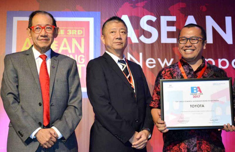 Brand Toyota Raih Penghargaan di 2017 Brand Asia Study