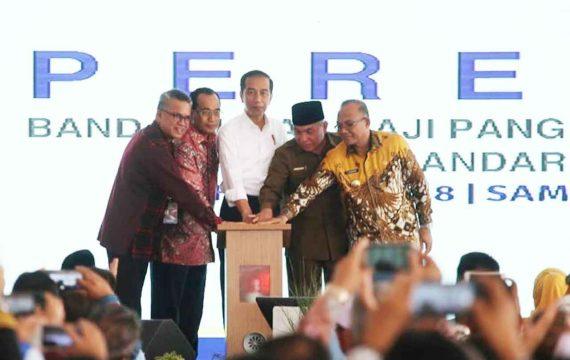 Presiden Jokowi Resmikan Bandara Maratua dan APT Pranoto