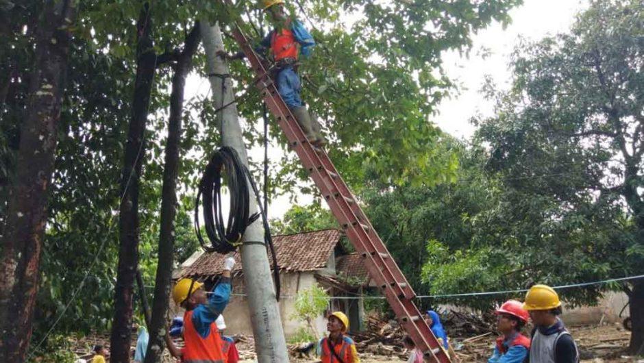 Pemulihan Kelistrikan Selat Sunda Capai 100 Persen