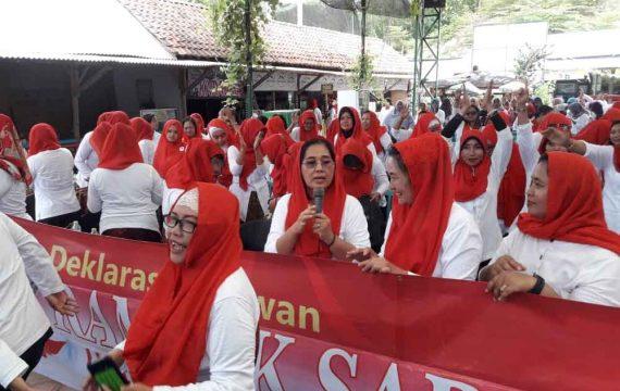 Konsisten Memihak Perempuan, Rampak Sarinah Deklarasi Dukung JKW-KMA