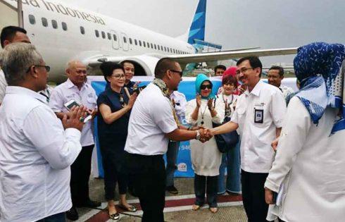 Dukung Pengembangan Ekonomi, Garuda Buka Rute Saingapura-Bandung