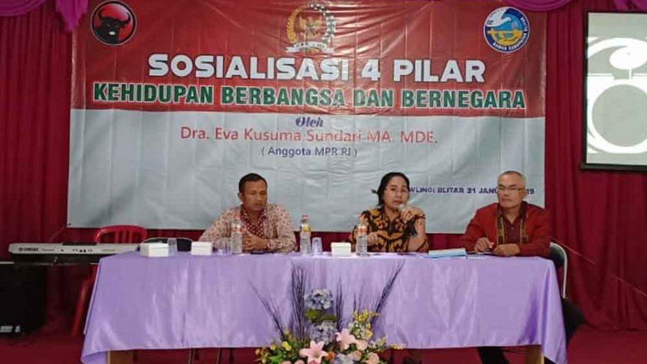 Sosialisasi 4 Pilar MPR dengan BAMAG Blitar Raya