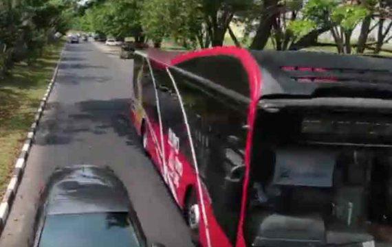 Suroboyo Bus Buka Rute Jl MERR