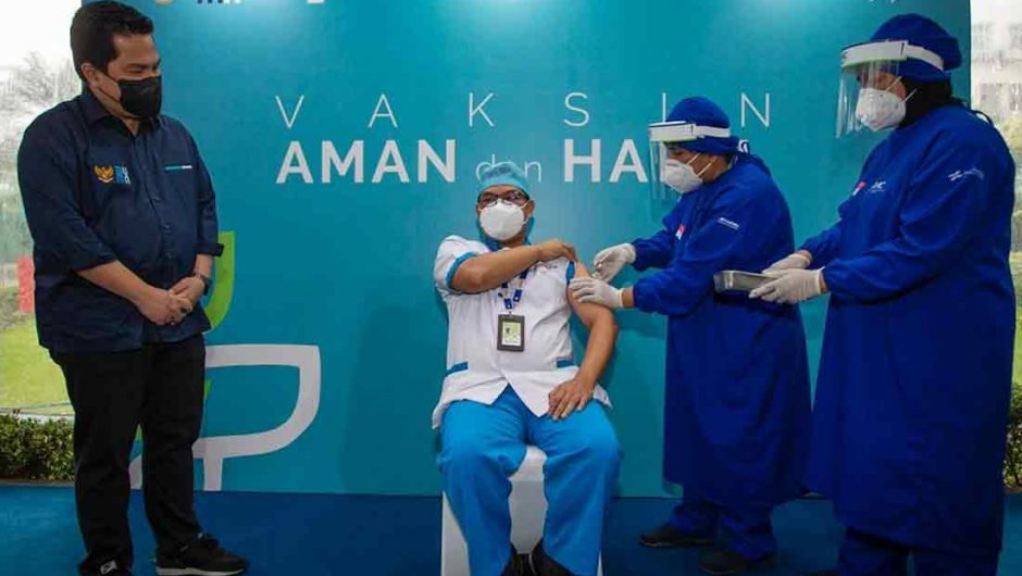 Erick Thohir : Vaksinasi Tenaga Kesehatan Lindungi dan Perkuat Motivasi Perangi Covid-19